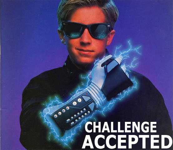 Nintendo Power Glove Challenge Accepted